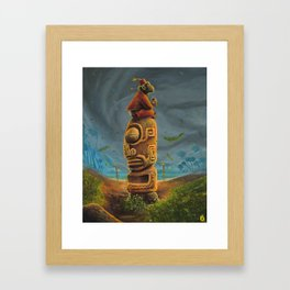 Koshi Greets The Storm Framed Art Print