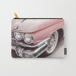 Blush Pink Vintage Car Carry-All Pouch