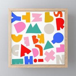 Abc Framed Mini Art Print