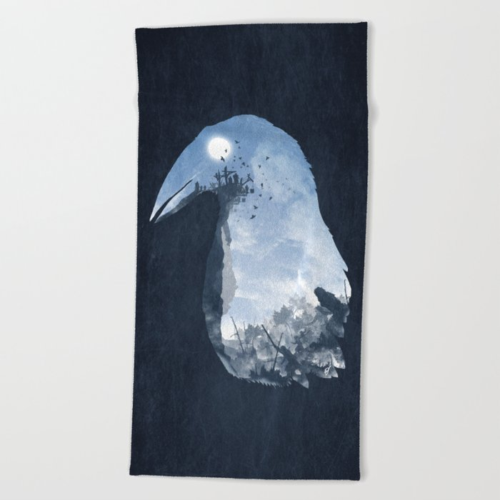Rise of the Crow Beach Towel