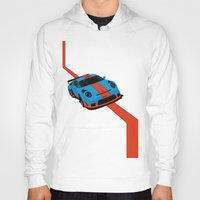porsche Hoodies featuring Gulf Porsche by SABIRO DESIGN