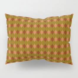 Interlaced circles # 2 in red, ocher and orange Pillow Sham
