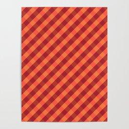 Orange plaid Poster