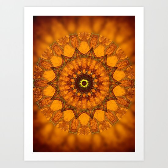 Prince of Sunrise Mandala Art Print