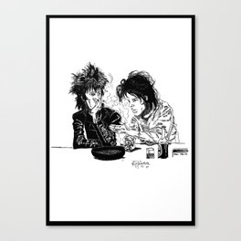 Blixa Bargeld and Nick Cave Canvas Print