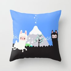 Run alpaca, run! Throw Pillow