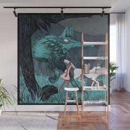Woman Wolf wandering Wall Mural