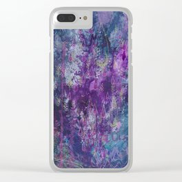 nocturnal bloom Clear iPhone Case