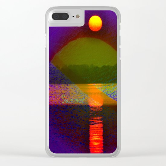 Fresh summer Clear iPhone Case