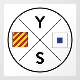 Young Salts Logo - Color Art Print
