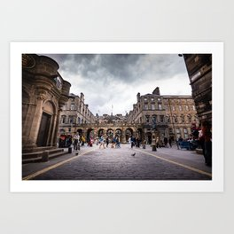 Royal Mile in Edinburgh, Scotland Art Print