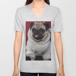 Frank the Pug Unisex V-Neck