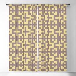 Minimalist Scandinavian Cross Nordic Yellow Blackout Curtain