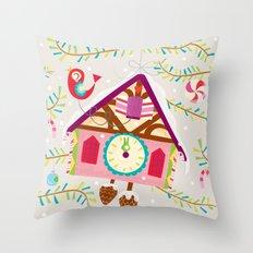 cuckoo for christmas Throw Pillow