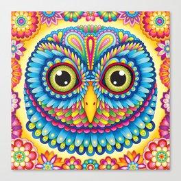 Tropicalia Owl Art Canvas Print