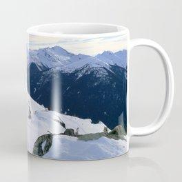 The snowy rocks at mountain tops Coffee Mug