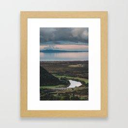 Landscape: Tilt-shift Framed Art Print