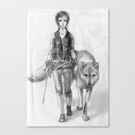 Wolfgirl Canvas Print