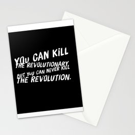 Can Never Kill The Revolution Stationery Cards