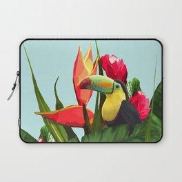 Toucan Tropical Banana Leaves Bouquet Laptop Sleeve
