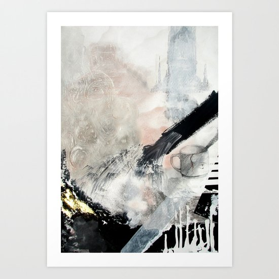 Saponification Abstraction Art Print