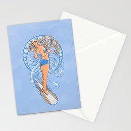 Surf Nouveau Stationery Cards