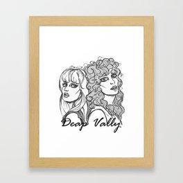 deap vally Framed Art Print