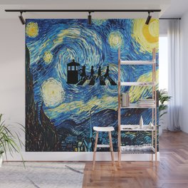 The Doctors Walking Of Starry Night Wall Mural