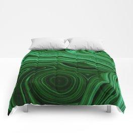 GREEN MALACHITE STONE PATTERN Comforters