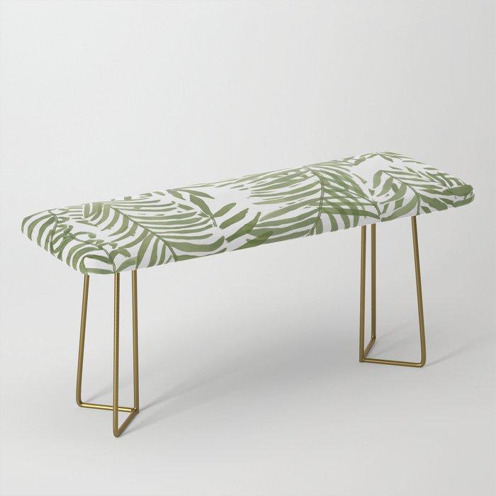 Areca Palm Pattern Bench