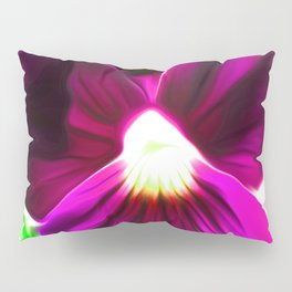Painted Pansy - Red Pillow Sham