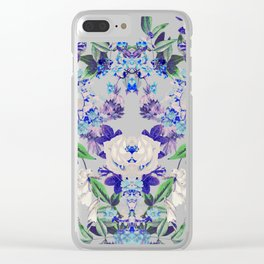 Floral Mingle Clear iPhone Case