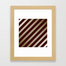 diagonal modern pattern Framed Art Print