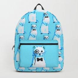 Funny Ferret Hipster Backpack