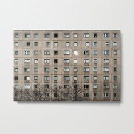 Plattenbau - gdr architecture building facade Metal Print