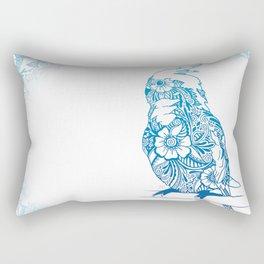 Henna Cockatiel - White background Rectangular Pillow
