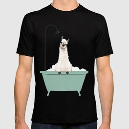 Llama Enjoying Bubble Bath T-shirt