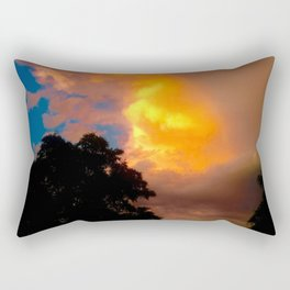 Florida Sunrise Orange Sky Rectangular Pillow