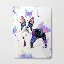 Perro jugando Metal Print