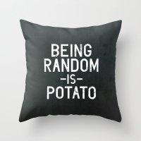 random Throw Pillows featuring Random by Vectored Life