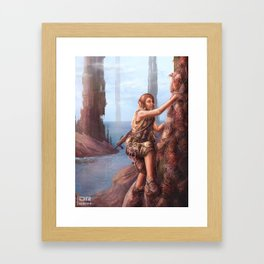 Scaling the 4th Monolith Framed Art Print