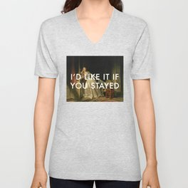 Stay for a Kiss Unisex V-Neck