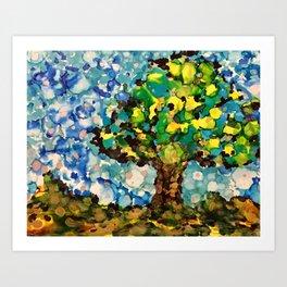 Real Bubble tree Art Print