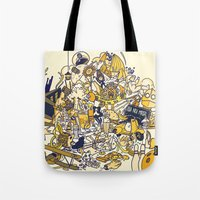 movies Tote Bags featuring Movies Explosion by zaMp
