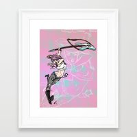 flcl Framed Art Prints featuring FLCL Tribute by Alex Ray