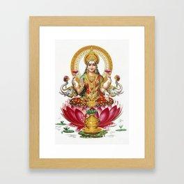 Hindu Goddess Lakshmi Indian Asia Yoga Meditation Framed Art Print