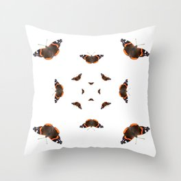 "Butterflies of the specie ""Vanessa atalanta"" Throw Pillow"