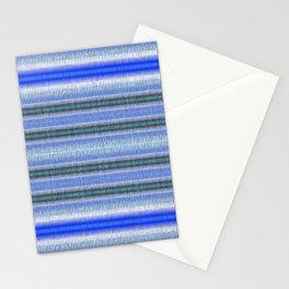 Woven Blue Stationery Cards