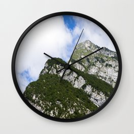 Italian alps - Top of the mountain in the summertime Wall Clock