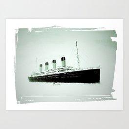 R.M.S Titanic as she leaves Belfast.(Fridge magnet. Art Print
